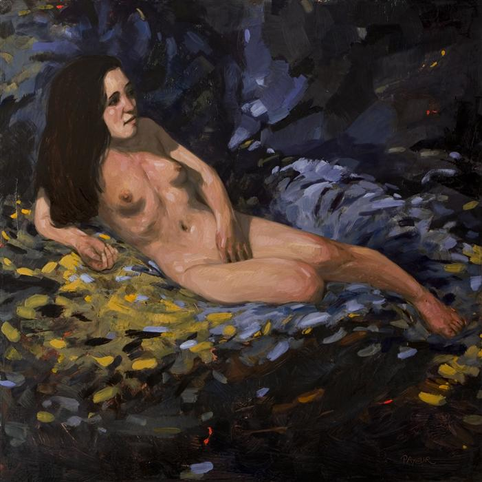 Original art for sale at UGallery.com | Anais by OLIVIER PAYEUR | $1,675 | Oil painting | 27.6' h x 27.6' w | http://www.ugallery.com/oil-painting-anais