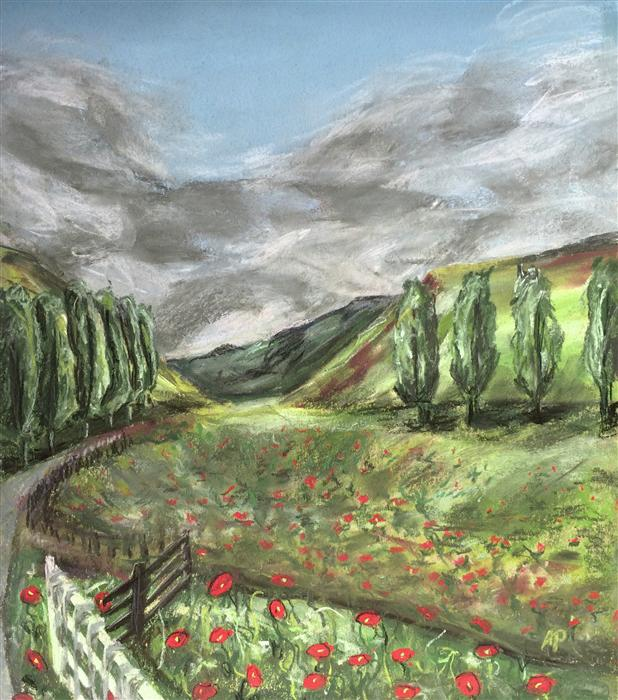 Original art for sale at UGallery.com | Tuscany by ANASTASIA PIMENTEL | $350 | Pastel artwork | 13' h x 11' w | http://www.ugallery.com/pastel-artwork-tuscany