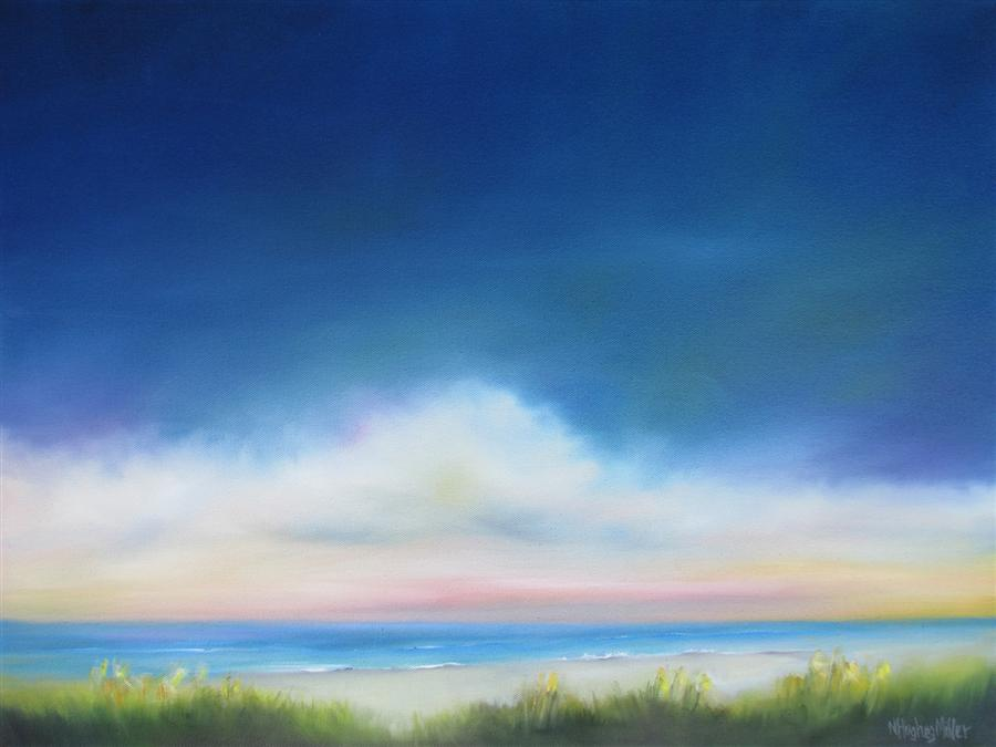 Original art for sale at UGallery.com | Glimpse of the Sea by NANCY HUGHES MILLER | $725 | Oil painting | 18' h x 24' w | http://www.ugallery.com/oil-painting-glimpse-of-the-sea