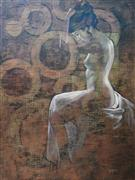 Expressionism art,Nudes art,Representational art,oil painting,Wheels of Fate