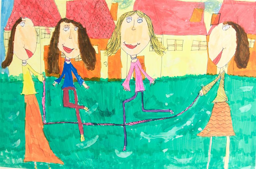 Discover Original Art by International Child Art Foundation (ICAF) | Untitled (Emese) marker artwork | Art for Sale Online at UGallery