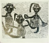 printmaking,Dancing