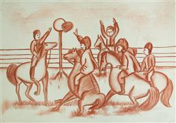 crayon artwork,Ancient Games
