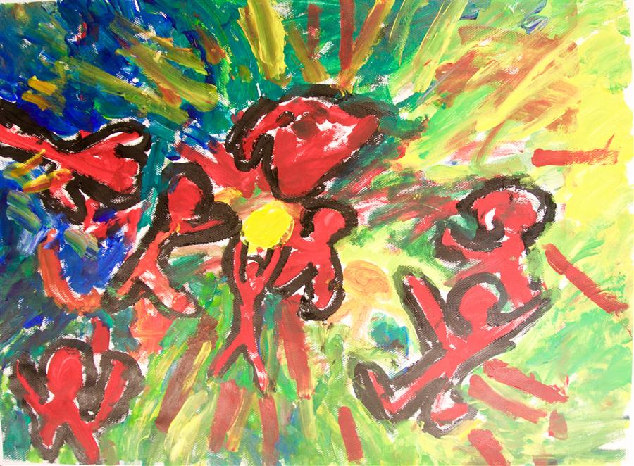 Discover Original Art by International Child Art Foundation (ICAF) | Rugby acrylic painting | Art for Sale Online at UGallery
