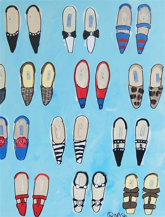 Discover Original Art by Brian Nash | Shoes acrylic painting | Art for Sale Online at UGallery