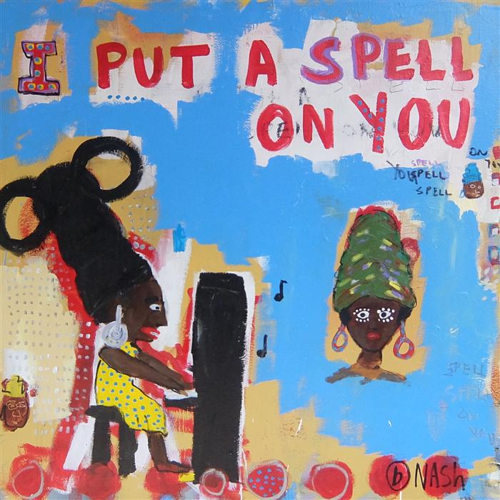 Discover Original Art by Brian Nash | I Put a Spell on You acrylic painting | Art for Sale Online at UGallery