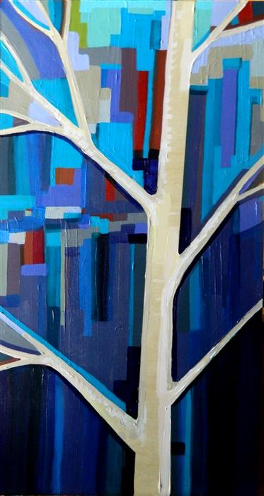Original art for sale at UGallery.com | Woods No. 6 by KRISTI TAYLOR | $725 | Acrylic painting | 24' h x 12' w | http://www.ugallery.com/acrylic-painting-woods-no-6