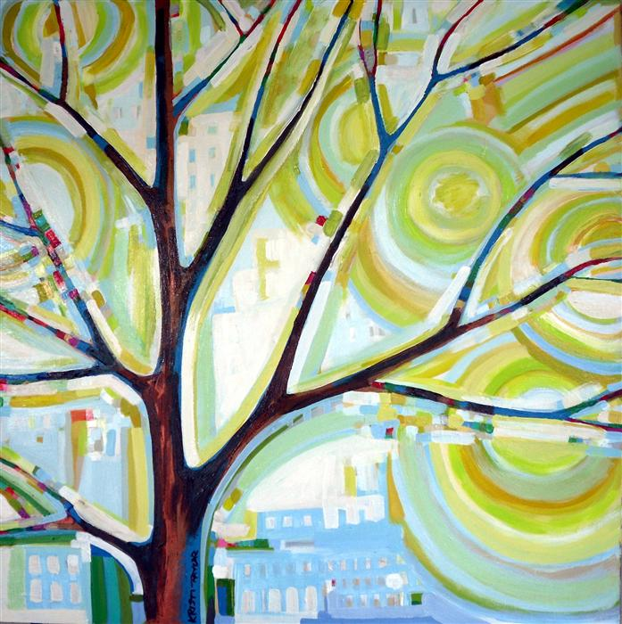 Original art for sale at UGallery.com | City Life No. 2 by KRISTI TAYLOR | $1,975 | Acrylic painting | 30' h x 30' w | http://www.ugallery.com/acrylic-painting-city-life-no-2