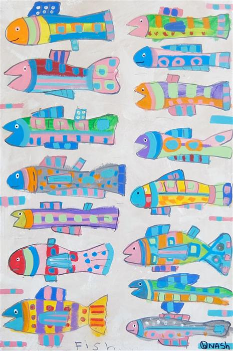 Discover Original Art by Brian Nash | Fish acrylic painting | Art for Sale Online at UGallery
