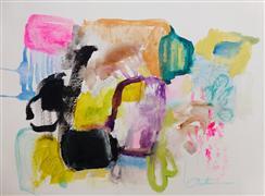 Abstract art,Expressionism art,Non-representational art,mixed media artwork,Pink Cumberbund