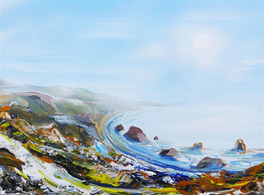 Discover Original Art by Piero Manrique | Ocean Overlook acrylic painting | Art for Sale Online at UGallery