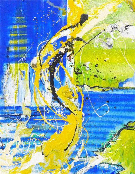 Discover Original Art by Piero Manrique   Summer acrylic painting   Art for Sale Online at UGallery