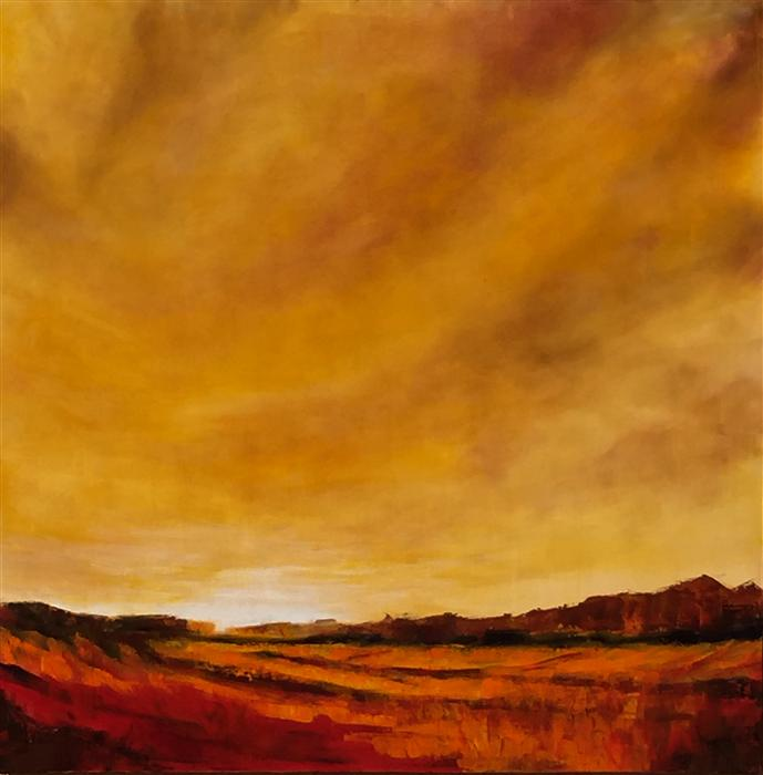 Original art for sale at UGallery.com | Arroyo by MANDY MAIN | $1,975 | Oil painting | 36' h x 36' w | http://www.ugallery.com/oil-painting-arroyo