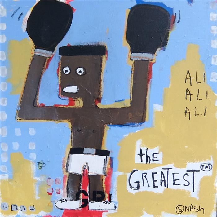 Original art for sale at UGallery.com | The Greatest by BRIAN NASH | $1,575 | Acrylic painting | 36' h x 36' w | http://www.ugallery.com/acrylic-painting-the-greatest