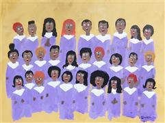 People art,Religion art,Representational art,Primitive art,acrylic painting,The Choir