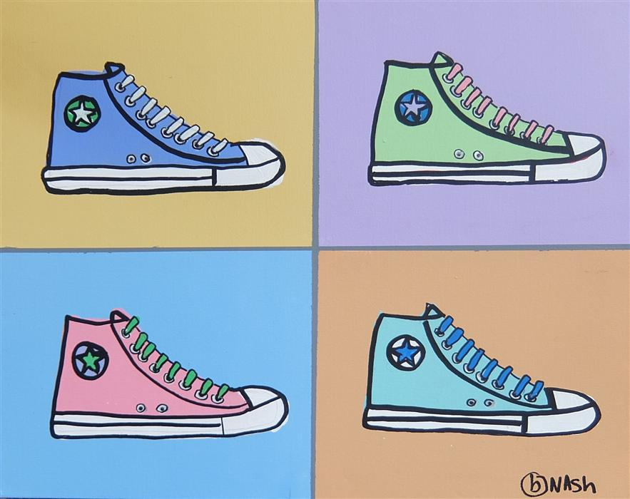 Original art for sale at UGallery.com | High Tops by BRIAN NASH | $600 | Acrylic painting | 24' h x 30' w | http://www.ugallery.com/acrylic-painting-high-tops