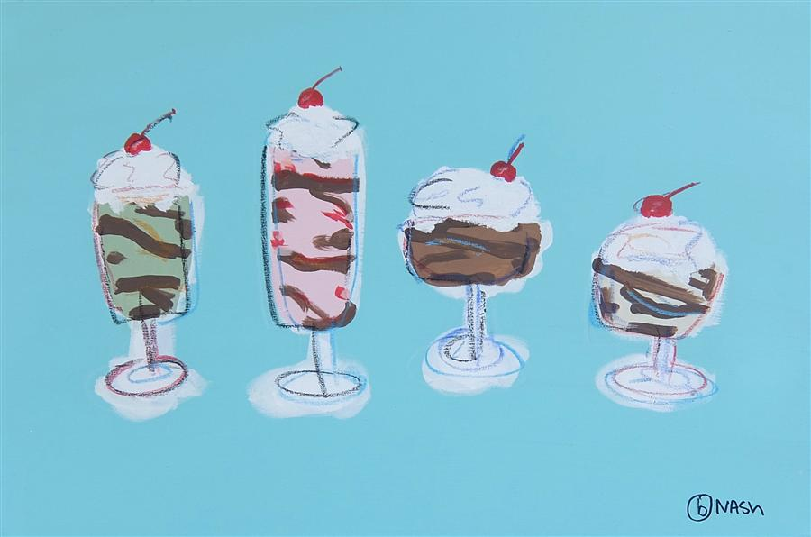 Discover Original Art by Brian Nash | Sundae Will Never Be the Same acrylic painting | Art for Sale Online at UGallery