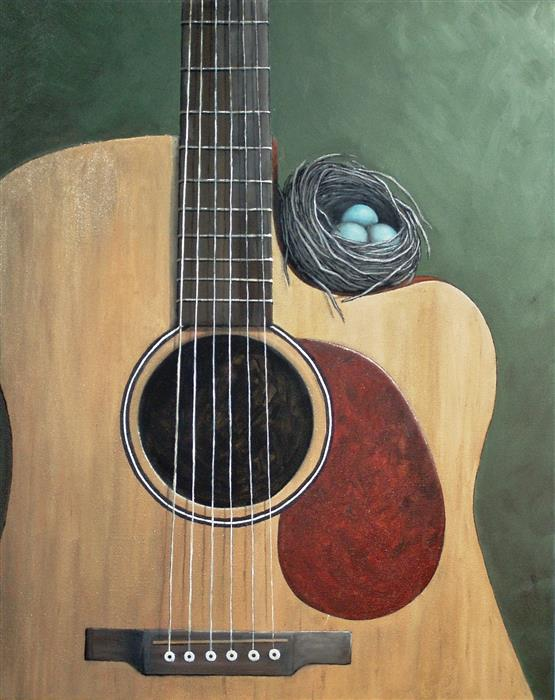 Original art for sale at UGallery.com | The Nest that Music Built by JENNIFER ROSS | $1,700 | Oil painting | 30' h x 24' w | http://www.ugallery.com/oil-painting-the-nest-that-music-built