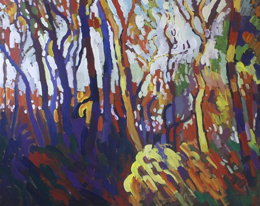 Original art for sale at UGallery.com | Autumn Colors by ROBERT HOFHERR | $825 | Acrylic painting | 24' h x 30' w | http://www.ugallery.com/acrylic-painting-autumn-colors