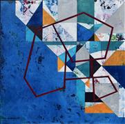 Abstract art,Non-representational art,Modern  art,acrylic painting,Mapping the Experience II
