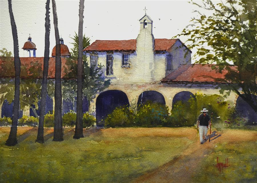 Original art for sale at UGallery.com | Memories of Capistrano by JUDY MUDD | $500 | Watercolor painting | 11' h x 14.5' w | http://www.ugallery.com/watercolor-painting-memories-of-capistrano