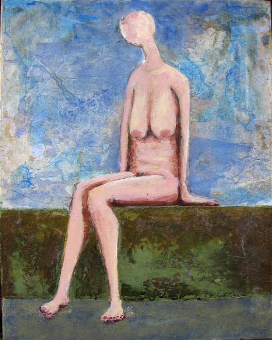 Original art for sale at UGallery.com | Nude 3 by DON WEAVER | $425 | Mixed media artwork | 14' h x 11' w | http://www.ugallery.com/mixed-media-artwork-nude-3