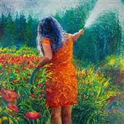 Discover Original Art by Iris Scott | Mama's Garden oil painting | Art for Sale Online at UGallery