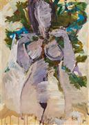 Expressionism art,Nudes art,Representational art,acrylic painting,Figure and Tree