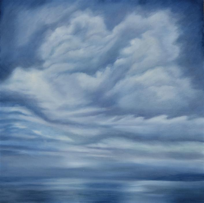 Discover Original Art by Kelly Money | Into the Blue oil painting | Art for Sale Online at UGallery
