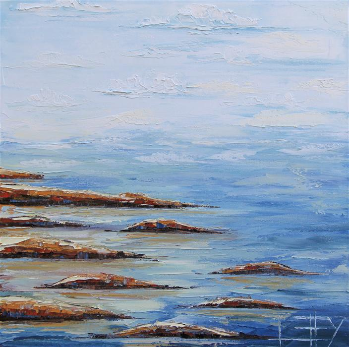 Original art for sale at UGallery.com | Elusive Horizon by LISA ELLEY | $575 | Oil painting | 20' h x 20' w | http://www.ugallery.com/oil-painting-elusive-horizon