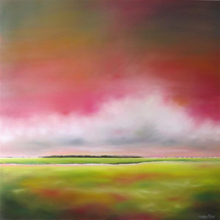 Original art for sale at UGallery.com | Sunrise Marsh by NANCY HUGHES MILLER | $1,775 | Oil painting | 36' h x 36' w | http://www.ugallery.com/oil-painting-sunrise-marsh