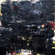 Abstract art,Expressionism art,Non-representational art,Modern  art,encaustic artwork,Black Painting #3