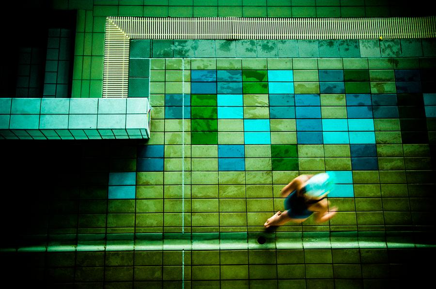 Original art for sale at UGallery.com | The Pool by ALICJA BRODOWICZ | $295 |  | ' h x ' w | http://www.ugallery.com/photography-the-pool