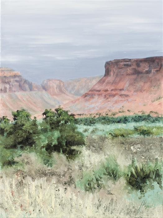 Discover Original Art by Jill E. Poyerd | Canyon Approach oil painting | Art for Sale Online at UGallery