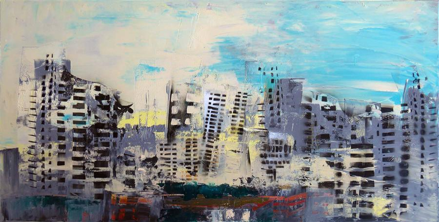Discover Original Art by Gloria Blatt | City Tour acrylic painting | Art for Sale Online at UGallery