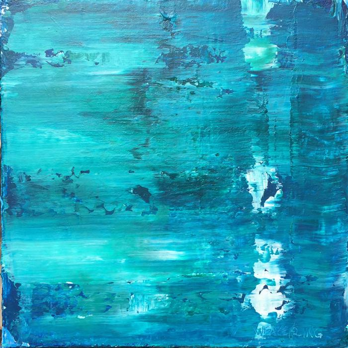 Original art for sale at UGallery.com | Oceans 39 by JULIE WEAVERLING | $300 | Acrylic painting | 12' h x 12' w | http://www.ugallery.com/acrylic-painting-oceans-39
