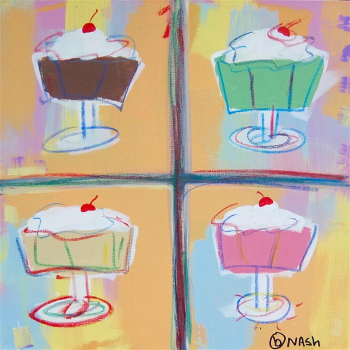 Discover Original Art by Brian Nash | Never on a Sundae acrylic painting | Art for Sale Online at UGallery
