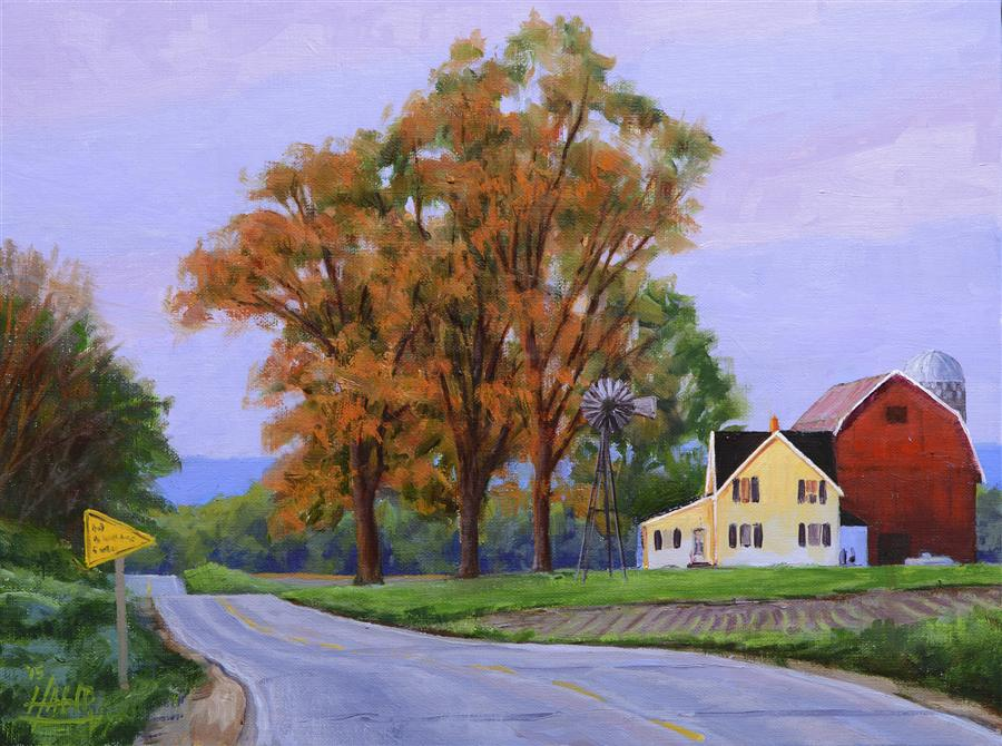 Original art for sale at UGallery.com | Rural Route by NATHAN HAGER | $600 | Oil painting | 9' h x 12' w | http://www.ugallery.com/oil-painting-rural-route