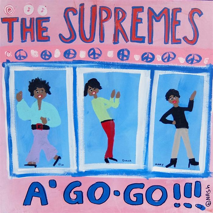 Discover Original Art by Brian Nash | Supremes A' Go Go acrylic painting | Art for Sale Online at UGallery