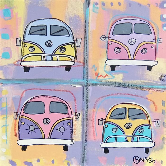 Discover Original Art by Brian Nash | VW Vans acrylic painting | Art for Sale Online at UGallery