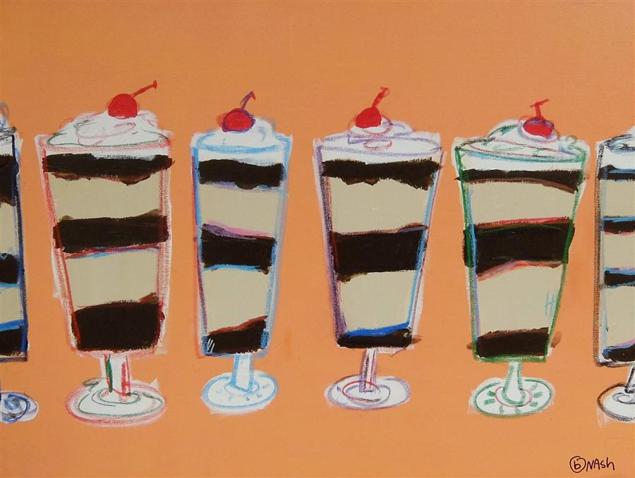 Original art for sale at UGallery.com | Parfait Please by BRIAN NASH | $1,275 | Acrylic painting | 30' h x 40' w | http://www.ugallery.com/acrylic-painting-parfait-please
