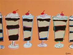 Pop art,Cuisine art,Representational art,acrylic painting,Parfait Please