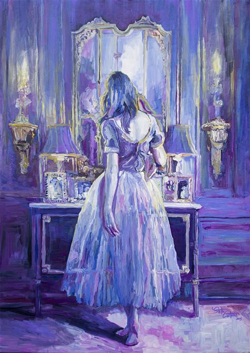 Discover Original Art by Seth Couture | Her Peaceful Place acrylic painting | Art for Sale Online at UGallery