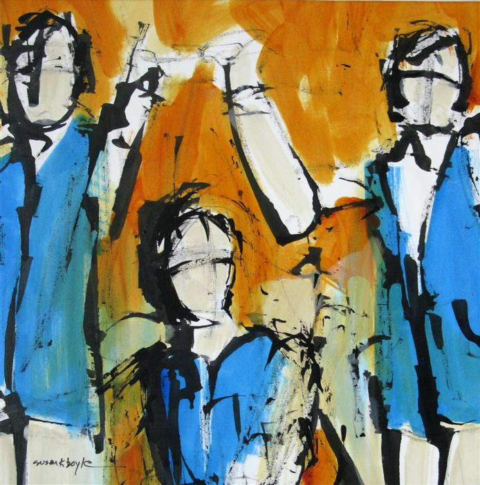 Original art for sale at UGallery.com | Anticipation by SUSAN K BOYLE | $425 | Acrylic painting | 12' h x 12' w | http://www.ugallery.com/acrylic-painting-anticipation