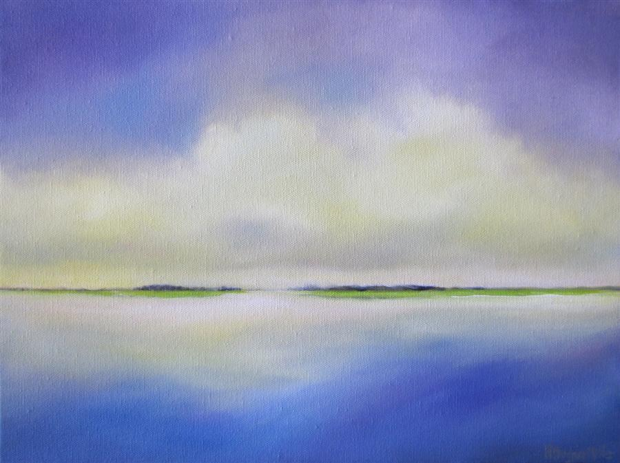 Original art for sale at UGallery.com | Lowlands I by NANCY HUGHES MILLER | $475 | Oil painting | 12' h x 16' w | http://www.ugallery.com/oil-painting-lowlands-i