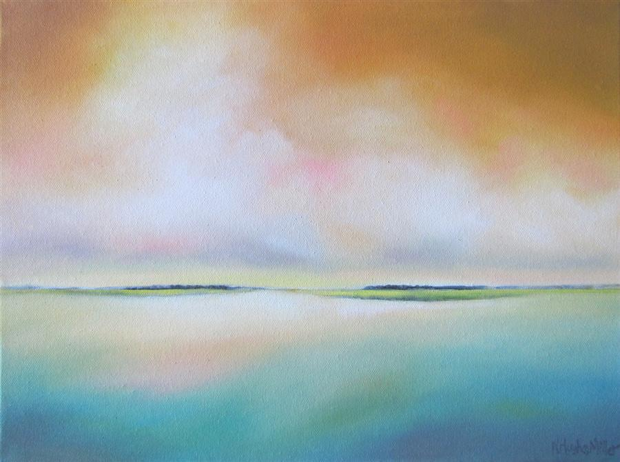 Original art for sale at UGallery.com | Lowlands II by NANCY HUGHES MILLER | $475 | Oil painting | 12' h x 16' w | http://www.ugallery.com/oil-painting-lowlands-ii