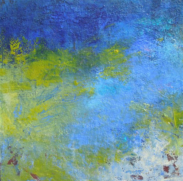 Discover Original Art by Hilma Koelman | Deep Still Blue oil painting | Art for Sale Online at UGallery