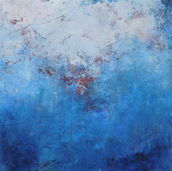Discover Original Art by Hilma Koelman | Blue Mysteries oil painting | Art for Sale Online at UGallery