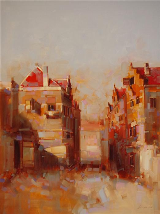 Discover Original Art by Vahe Yeremyan | Dutch Town oil painting | Art for Sale Online at UGallery