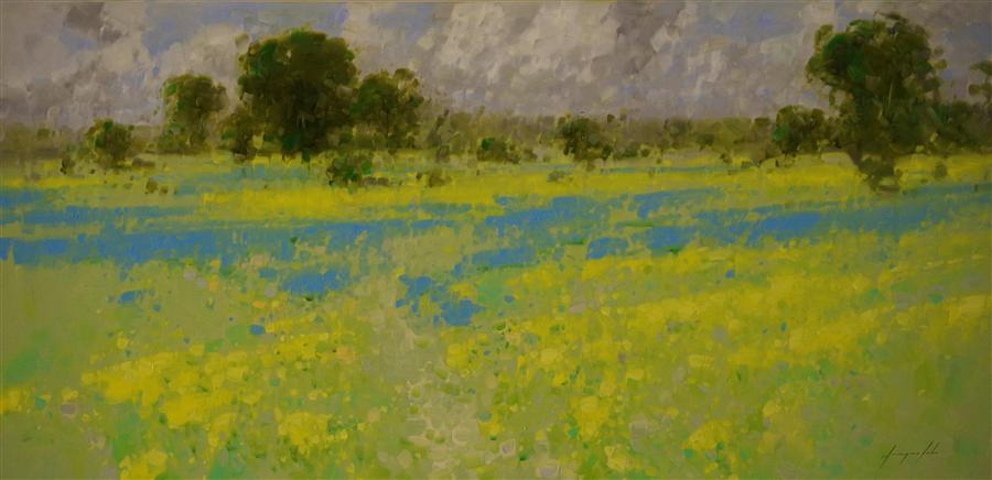 Discover Original Art by Vahe Yeremyan | Lavender Fields in Old Provence oil painting | Art for Sale Online at UGallery